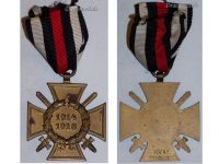 Germany Hindenburg Cross Combatants Maker RV 43 Pforzheim German WW1 Medal Honor 1914 1918 Great War