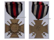 Germany WW1 Hindenburg Cross with Swords for Combatants Maker ESL