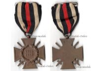 Germany WW1 Hindenburg Cross with Swords for Combatants Maker G10