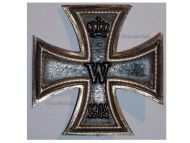 Germany Iron Cross 1914 EK1 Maker HBG German WW1 Medal Decoration Merit Prussia 1918 Great War