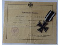 Germany WW1 Iron Cross 1914 2nd Class by Maker KAG with Diploma to the 79th Infantry Regiment von Voigts Rhetz