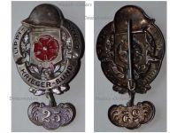 Germany Lippe Detmold WW1 Badge Veterans Association with 25 Years Membership Bar Weimar Republic 1918 1934