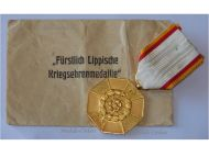 Germany Lippe Detmold WW1 War Medal Honor 1915 for Meritorious Homeland Service 1914 1918 with Envelope of Issue