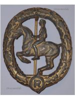 NAZI Germany WW2 Riding Equestrian Badge Gold Sport Military Medal German Decoration WWII 1939 1945