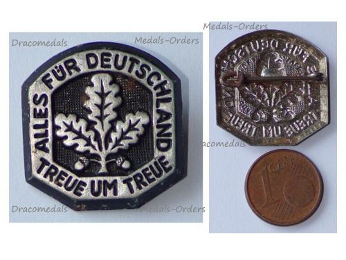 NAZI Germany WW2 Patriotic Loyalty Badge with the Motto of the German Paratroopers