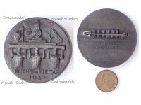 NAZI Germany WW2 9th NSDAP Party Congress Day Reichsparteitag 1937 Tinnie Badge by Wilhelm Kolwitz