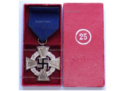 NAZI Germany WW2 Loyal Civil Service Cross 2nd Class for 25 Years Boxed