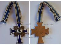 NAZI Germany WW2 Mothers Cross 1938 Bronze 2nd Type Civil Medal WWII 1939 1945 German Military Decoration