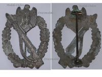 NAZI Germany WW2 Infantry Assault Badge Silver Class in Zinc