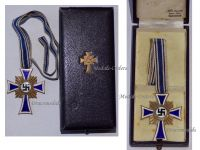 NAZI Germany WW2 Mothers Cross 1938 Gold 2nd Type Civil Medal WWII 1939 1945 German Military Decoration Boxed Maker Wilhelm Deumer