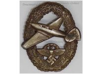 NAZI Germany WW2 NSFK Badge Powered Aircraft Pilot 2nd Type 1939 National Socialist Flyers Corps WWII German Air Force Decoration