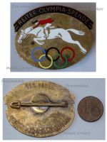 NAZI Germany German Equestrian Committee Donation Badge XI Olympiad Berlin 1936 Summer Olympics Marked Ges Gesch
