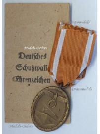 NAZI Germany WW2 West Wall Defence 1939 Siegfried Line Military Medal German Decoration WWII 1945 Envelope Carl Poellath