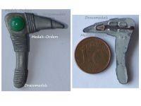 NAZI Germany WW2 Germanic Axe WHW Badge Tinnie Marked W2