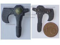 NAZI Germany WW2 Germanic Axe WHW Badge Tinnie Marked W8