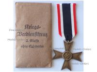 NAZI Germany WW2 Military Cross for War Merit without Swords 2nd Class 1939 with Envelope of Issue by Maker 1 Deschler & Sohn