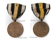 Germany Prussia 1814 Napoleonic Wars Military Medal Combatants German Prussian Round Arms Type