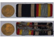 Germany WW1 Iron Cross EK2 Mecklenburg Merit FF2 Military Medals Ribbon Bar WWI 1914 1918 German