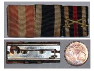 Germany WW1 Hanseatic Hamburg Iron Cross Hindenburg Military Medal Ribbon Bar WWI 1914 1918 German