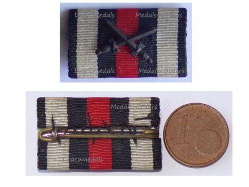 Germany WW1 Ribbon Bar Hindenburg Cross with Swords