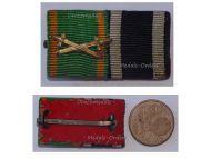 Germany WW1 Baden Knight Order Zahringen Lion Swords Iron Cross EK2 Prussia Military Medals Ribbon Bar WWI 1914 1918 German