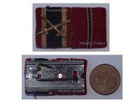 NAZI Germany WWII War Merit Cross Swords Eastern Front Medal Ribbon Bar German Operation Barbarossa 1941