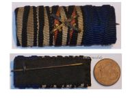 Germany WW1 Iron Cross EK2 Hindenburg Prussia Long Service Military Medals Ribbon Bar 1914 1918 German