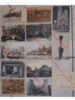 Germany WW1 13 photos Field Post postcards Solders Iron Cross Ruins German Photograph Great War 1914 1918 WWI