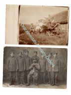 Germany WW1 2 photos Underage Child Soldiers Officer Sword Medal Bar Cap German Army Great War 1914 1918