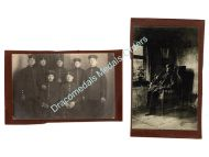 Germany WW1 2 Photos Soldiers Veteran Pipe Photograph 1914 1918 Great War WWI