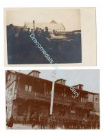Germany WW1 2 Photos High Rank Officer Car German Troops Hang British Dummy Soldier Photo Prussia 1914 1918 Great War