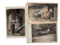 Germany WW1 3 Photos Eastern Front Soldiers Russians Postcards Field Post Photograph 1914 1918 Great War WWI