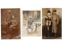 Germany WW1 3 Photos Soldiers Postcards Field Post Photograph 1914 1918 Great War WWI