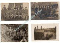 Germany WW1 4 Photos Soldiers Trenches Field Post Photograph Postcard 1914 1918 Great War WWI