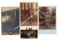 Germany WW1 4 Photos Soldiers Postcards Infantry Railway Photograph 1914 1918 Great War WWI