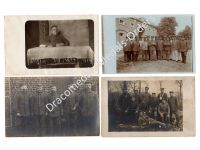 Germany WW1 4 Photos Officer Iron Cross Bar Field Hospital Wounded Photo Prussia 1914 1918 Great War