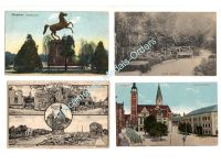 Germany WW1 4 Postcards Hanover Horse Ingolstadt Bavarian Infantry Trenches