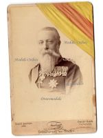 Germany WW1 Friedrich Grand Duke Baden Cabinet photograph 1882 1894 Medals Photo Shooting Award Ribbon Karl Military Order Merit