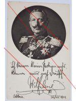 Germany WW1 photo Kaiser Wilhelm II patriotic postcard Decorations Prussia 1914 1918 Great War Declaration
