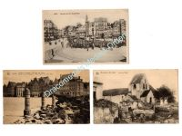 Germany WW1 3 Postcards Occupied France Belgium Lille Laon Ypres Field Post Photograph 1914 1918 Great War WWI