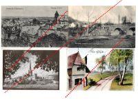 Germany WW1 4 Field Post Postcards German Austrian Flags Somme Montmedy Tallinn Photo 1914 1918 Great War WWI