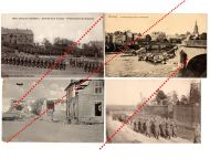 Germany France WW1 4 Field Post photo postcard Military Band French Unit Presens Arms Regimental Flag Great War 1914 1918