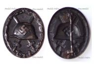 NAZI Germany WW2 Black Wound Badge Iron Made (Magnetic)