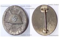NAZI Germany WW2 Silver Wound Badge 1940 1945 Maker 107