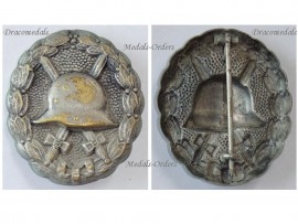 Germany Silver Wound Badge Medal WW1 1914 1918 German Prussian Army Great War WWI Decoration