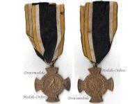 Germany Prussia Cross Army River Main 1866 Military Medal German Civil War vs Austria Prussian Decoration Kaiser Wilhelm I