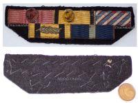 Greece WW2 Royal Hellenic Air Force Cross Merit Officer Order Phoenix George Military Medal Commemorative War 1940 Greek ribbon bar