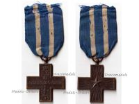 Italy WW1 Cross War Merit Military Medal WWI 1914 1918 Italian Kingdom Decoration Maker N