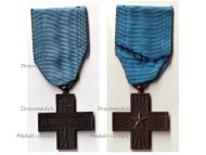 Italy WW2 Cross Military Valor 1946 1949 Al Valore Militare Italian War Decoration Medal Merit Republic by Regia Zecca