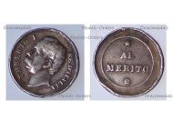 Italy Silver Table Medal for Merit King Umberto I 1878 1900